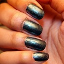 Orly Iron Butterfly and NYC Shimmer Blast Top Coat