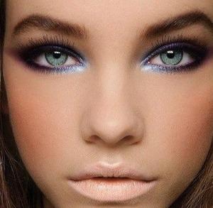 Make up blue beautiful