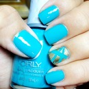 """Turquoise and gold """"laser"""" accent"""