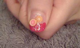 My Fabulously Fruity Fimo Nails