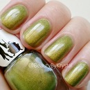 Mrs. P's Nail Potions - Green/Gold Shifty