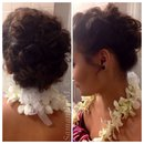 Hawaiian theme updo
