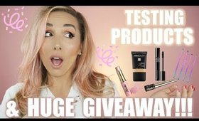 HUGE GIVEAWAY & GWRM TESTING NEW PRODUCTS | JESSICAFITBEAUTY