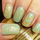 Aqua Tribal Nails