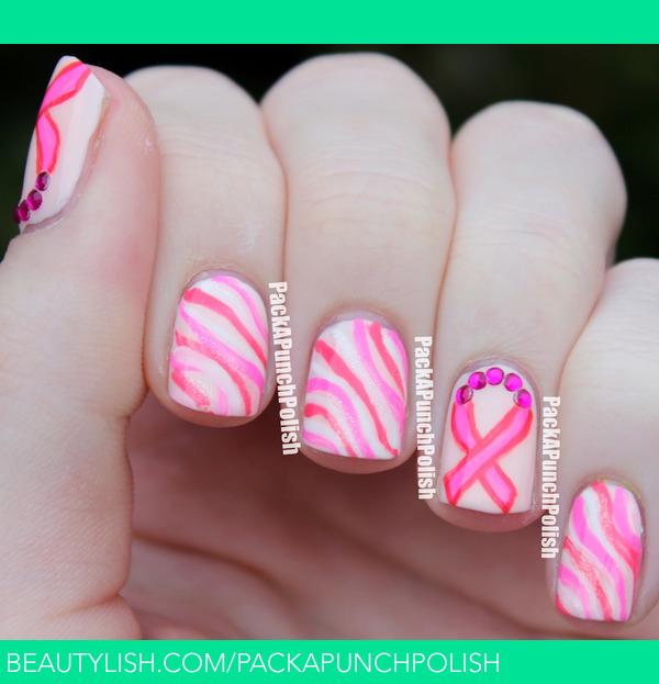 Breast Cancer Awareness Month Nail Art Samantha Ss