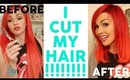 MY NEW HAIR!! I CUT IT!!!!