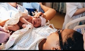 TheNewGirl007 ● WELCOME LUNA ADELE! | LABOR & DELIVERY VLOG! {Part Two}