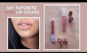 my favorite nude lipsticks for med-dark skin