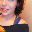 Blue Doubly winged liner