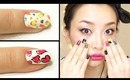 Colorful Leopard Nails & Hearts Nails Tutorial + REVLON Nail Art Expressionist Review [English Subs]