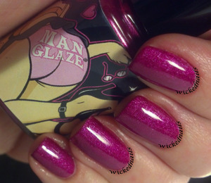 Lesbihonest matte polish by Manglaze with Seche Vite topcoat