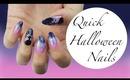 Last Minute Halloween Nails ♡