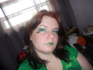 St. Patrick's Day. <.< It was fun to play around.  I apologize for the lack of smile... or even smirk.