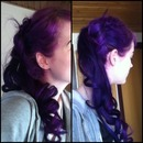 Purple hair and curls