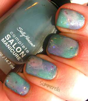 For full list of products and the technique you can go here: http://summerella31.blogspot.com/2013/03/thunderstorm-nails.html#