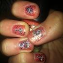 floral & cross nail