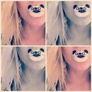 Panda lip art 🐼