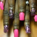 hot pink nails by SauceC Nailz
