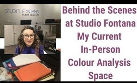 Behind the Scenes - Where I See In-Person Colour Analysis Clients - Studio Fontana in Toronto Canada