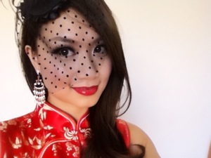 """This was the look I created for my """"Vintage Shanghai Glamour"""" video."""