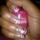 Pink & Black Tiger Stripes