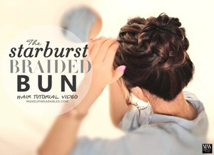 See how to do this hairstyle on yourself here   http://www.makeupwearables.com/2014/06/starburst-braided-bun-hairstyle.html