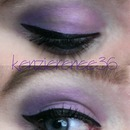 Purple Gradient Eye, with winged liner.