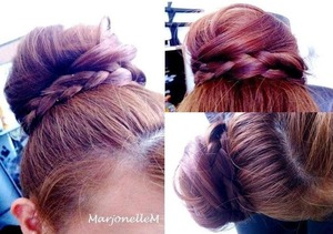 A fun alternative to the messy bun look