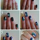 Floral nail art tutorial :)