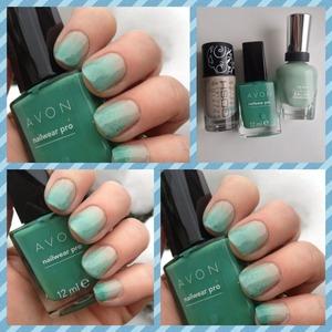polishes used gosh groovy grey sally hansen salon pro green tea and avon peppermint