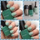 Green Natural Nail Gradient