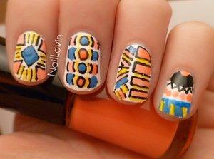 Aztec nails full post at naillovin.blogspot.co.uk