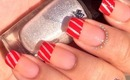 Candy Cane French Tip Nails by The Crafty Ninja