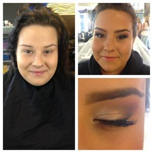 Bridal makeup for a fellow student at school.