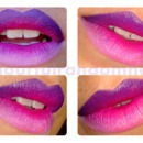 Purple ombre lips.