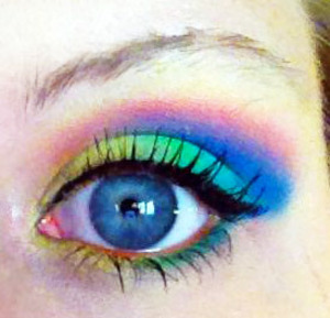 Same as other photo, just eyes open :) I used shadow to line my waterline and matched the colors I used on top. Inspiration from Eimear B. Check her out.. hope I spelled her name right! :) I tagged the elf palette because it has similar colors but I actually used the FASH palette, found on amazon for less then 20.00!