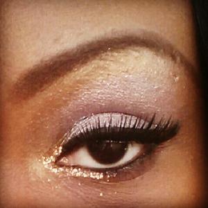 pearl, lavender, gold& gold glitter