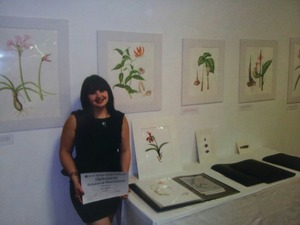 Graduated with a diploma in botanical illustration from edinburgh botanic gardens.yay