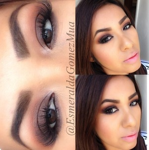 bronze smokey eyes soft lips for more pics follow me on instagram : EsmeraldaGomezMua