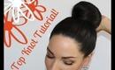 DIY Top Knot Bun Hair Tutorial! (Talk Through)