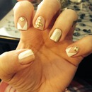 White, gold, & stud design!