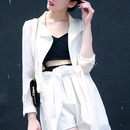 Self-tied Buttoned White Trench Coat