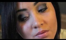 Straight edge smokey eye tutorial