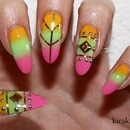 Colorful Summer Nails With Studs