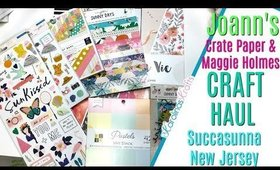 MAGICAL Joanns Haul from Succasunna, New Jersey! Sunny Days Crate Paper Collection