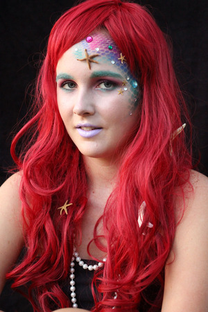 This is a colorful mermaid makeup look that can be tweaked to create your ideal mermaid. Visit my blog for more details on how to create this look- http://www.prettyinpigment.com/2013/10/mermaid-makeup-look.html