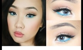 Summer Pastel Blue Makeup