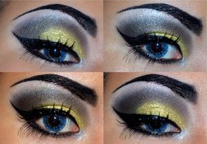 'Half Drag' close up on the eye makeup xx Using: NYX Cosmetics jumbo pencil- black bean, Lime Crime eyedust - circus grl, MAKE UP STORE - 24 carat, Illamasqua - Abyss, Inglot - AMC 78...  http://www.facebook.com/pkayblog?ref=hl