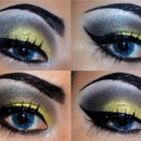 'Half Drag' close up on the eye makeup x