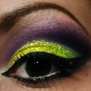 Purple&yellow cut crease